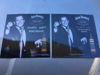 Frank Sinatra/Jack Daniels 12 By 12 Inch Laminated Set Of Two Pictures
