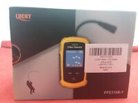 Lucky Fish Finder-Water Depth 100M,  Portable Sonar Sensor, 14° to 122°F - New