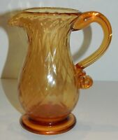 Pairpoint Amber Glass Small Footed Pitcher