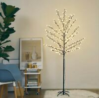 LED Lights Cherry Blossom Flower Tree 5 ft Indoor Outdoor Decoration Warm White