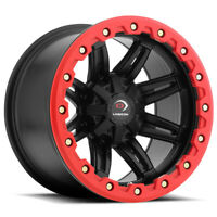 4-Vision 551 ATV/UTV 12x8 4x156 -10mm Black/Red Wheels Rims 12