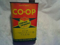 CO-OP CENTRAL EXCHANGE OUTBOARD MOTOR OIL EMPTY CAN S.A.E.30,st.paul minnesota