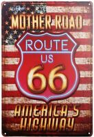 Mother Road Route US 66 American's Highway Vintage Metal Sign 8 x 12