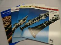 MUSIC Books CLARINET  Lot 4 Yamaha 1 2 3 NEW + Standard of Excellence 2 Band