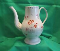 ANTIQUE c.1810 PEARLWARE CREAMWARE STAFFORDSHIRE HAND PAINTED ENAMEL TEAPOT
