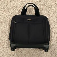 Samsonite Luggage Wheeled Small Underseater Black Good Condition
