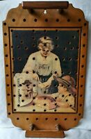 Vintage Ceresota Flour Advertising Art Wooden Tray w Holes amp; Handles Handcrafted