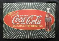 1920#x27;s ORIGINAL COCA COLA CARDBOARD SIGN quot;Refresh Yourselfquot; STARBURST VERY RARE