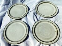 Ceramano Tique Dessert Plates 4 Total Made in West Germany 1970s Retired