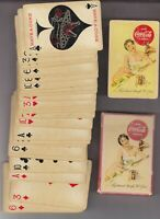 1956 COCA COLA PLAYING CARDS amp; BOX USED