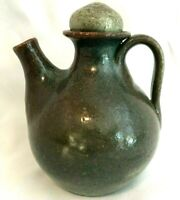 Vintage JUGTOWN WARE North Carolina Pottery Small Spout Jug with Stopper Cruet