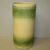 Antique Yellow Ware Umbrella Stand – 1920 – Brush McCoy Pottery