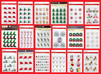 Recollections CHRISTMAS Stickers Santa Candy Canes Tree Elf Snowman Wreath Holly
