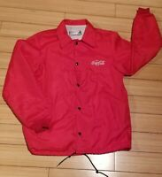 Vintage Coca Cola Jacket Windbreaker Raincoat Small Embroidered Worker Employee
