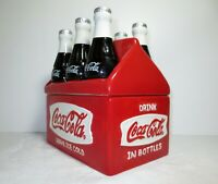 Coca Cola Cookie Jar Houston Harvest 6 Pack Good Condition Appx 8 x 8 in