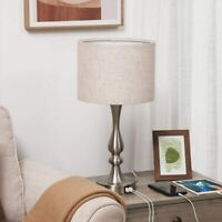 DEWENWILS Touch Control Table Lamp 3 Way Dimmable Bedside Lamp with 2 USB Ports $45.99