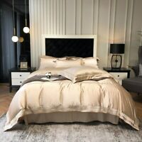 Bedding Set King Size Champagne Gold Bed Covers Queen Bedsheets Egyptian Cotton