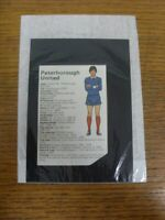 ©1976 Soccer Club Colours: Peterborough United On Reverse Oldham Athletic A Cu