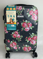 The Pioneer Woman Hardside Luggage Rose Garden 22quot; Rolling Suitcase Travel NWT