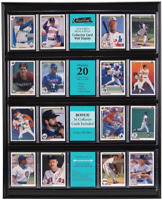 MCS 16x20 Inch Collector Card Wall Display Holds 20 Sports Cards Black 52894