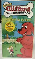 Vintage Clifford the Big Red Dog Clifford Tries His Best 2001 VHS Scholastic $12.99