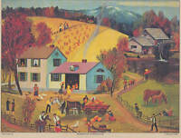 Thanksgiving in New England vintage print by Missouri Jenkins