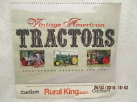 Vintage American Tractors 2001 Calendar W/Full-Page Color Photos by Rural King