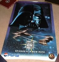 VINTAGE RARE 1996 STAR WARS TRILOGY EPISODE 4 A NEW HOPE PEPSI POSTER