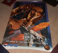 VINTAGE RARE 1996 STAR WARS EPISODE 5 THE EMPIRE STRIKES BACK PEPSI POSTER