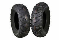 (2) New Front 24X8-12 MASSFX Grinder ATV TIRES SET HONDA RANCHER 4X4 350 420