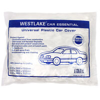 Clear Plastic Disposable Car Cover Temporary Universal Garage Rain Dust 1 Pack $13.95