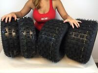 1999-2014 HONDA TRX 400EX MASSFX QUAD SPORT ATV TIRES 21X7-10, 20X10-9 SET 4
