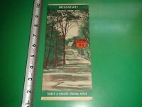 JD270 Vintage Phillips 66 Map of Missouri with a 1940 Census