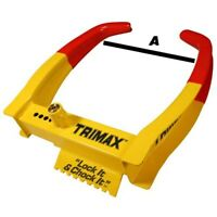 Trimax Auto Trailer ATV UTV Motorcycle Clamp Boot Wheel Tire Chock Lock Small