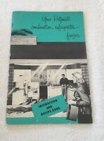 BS262 Vintage 1952 Hotpoint Refrigerator Freezer Recipe Users Guide