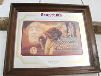 Vintage Jim Thorpe Seagrams Whiskey Bar Mirror Sign  RARE Sports Framed Picture