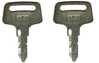 2 Kubota Tractor Equipment Ignition Keys replaces 37410 55150 BX1500 BX1800 More