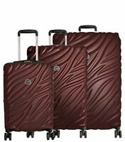Delsey Paris Alexis 3-Piece Lightweight Luggage Set Hardside Spinner Suitcase