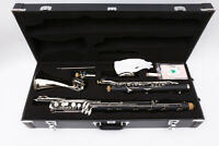 Advance Bass Clarinet Low c Bb key Ebonite Wood Professional With Pads Case