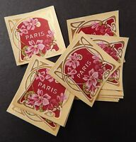 20 Vintage French Perfume Labels Paris Floral Bind3#15