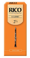 Rico Bb Clarinet Reeds Unfiled - 25 Per Box (Previous Packaging)