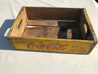 1967 Drink Coca-Cola Yellow 24 Bottle Carrier Coke 16oz Half Quarts Crate Case