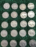 VINTAGE United States Coin Lot of 20 Buffalo Nickels 1913 1938 Dateless Fast Sh