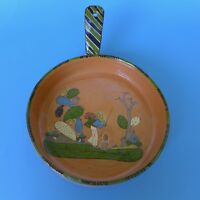 Vintage Mexican Tlaquepaque tourist pottery pan w/handle 11 3/4