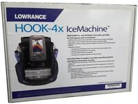 Lowrance Hook-4x ICE Portable CHIRP Fishfinder Machine + Ice Transducer