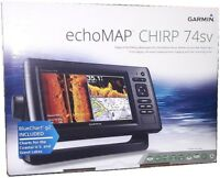 Garmin ECHOMAP CHIRP 74sv ClearVu SideVu + US Bluechart & Lakes - NO TRANSDUCER