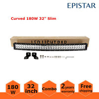 CURVED SLIM 32INCH 180W LED LIGHT BAR COMBO ATV FORD DRIVING 4WD BOAT RZR 30/33