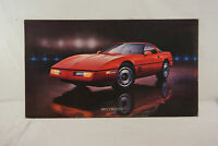 GM Chevrolet Dealership Showroom Floor Poster - 1985 Chevrolet Corvette