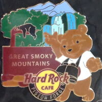 Hard Rock Cafe PIGEON FORGE 2014 National Teddy Park Bear PIN Smoky Mountains