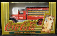 1993 DieCast Metal Coca-Cola Metal Coin Bank The Ertl Company Inc Delivery Truck